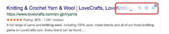 Google тестирует в выдаче функцию «Поделиться»