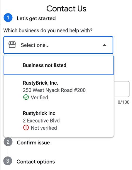 Google My Business улучшил форму для связи со службой поддержки