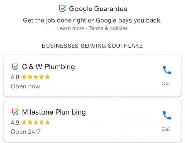 Google тестирует новый значок «Гарантия Google»
