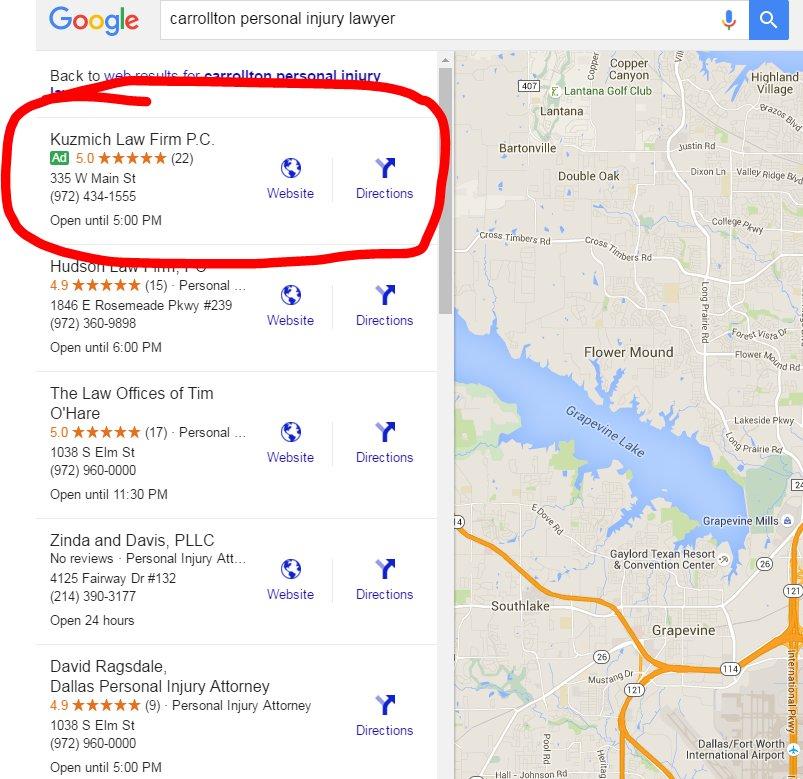 Контекстная реклама на карта