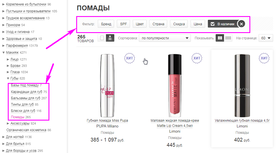 Юзабилити на шпильке: что можно узнать, исследуя пользователей интернет-магазинов парфюмерии и косметики