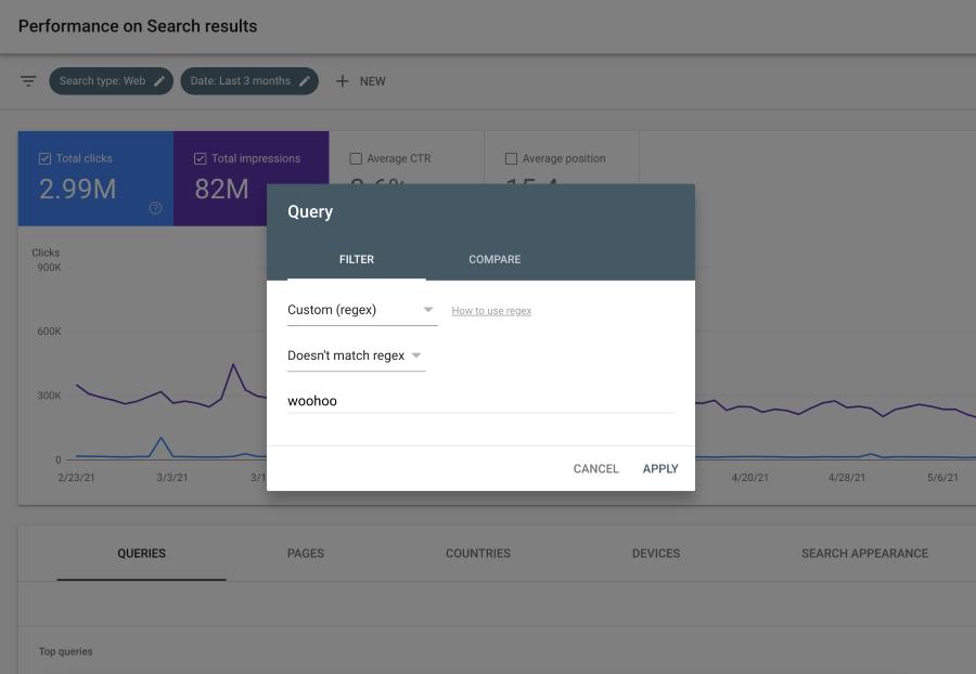 Google Search Console обновил фильтр регулярных выражений