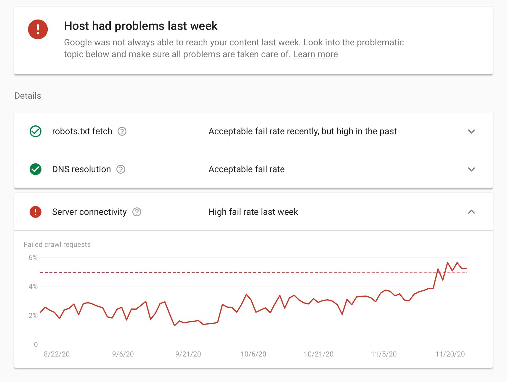 Google запустил новую версию отчета «Статистика сканирования» в Search Console