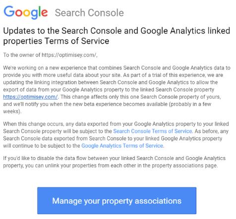 Google тестирует раздел в Search Console с данными из Analytics