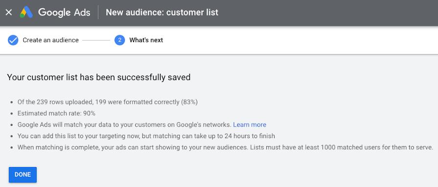 Коэффициент соответствия Google Ads
