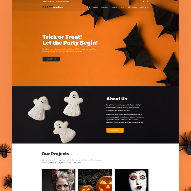 PartyMaker – Halloween Party WordPress Theme