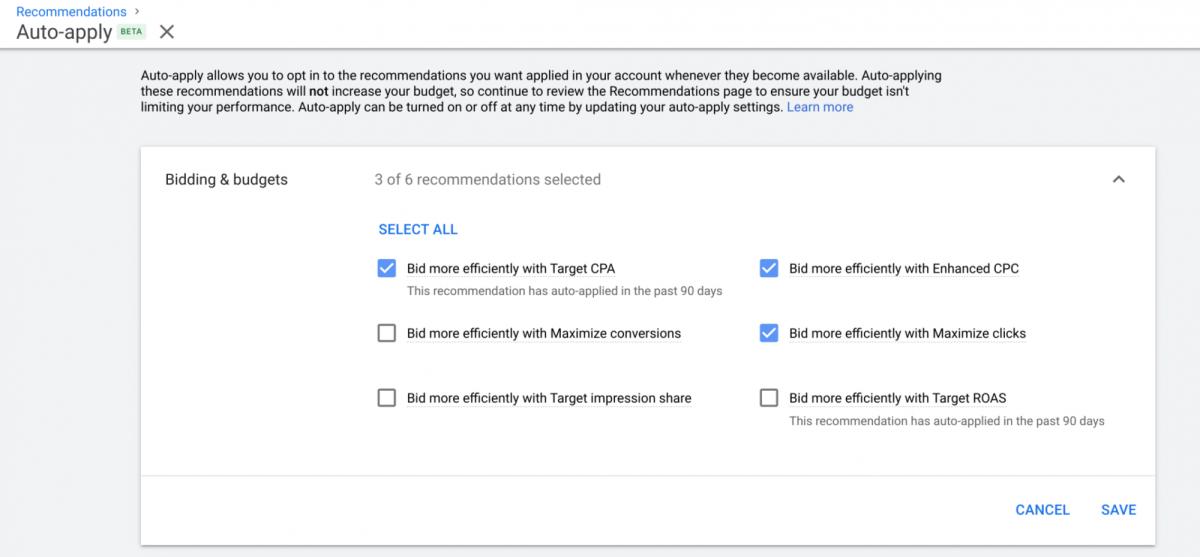 Google Ads добавил функцию автоматического применения рекомендаций