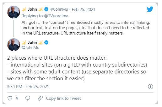 Имеет ли значение структура URL-адреса для Google