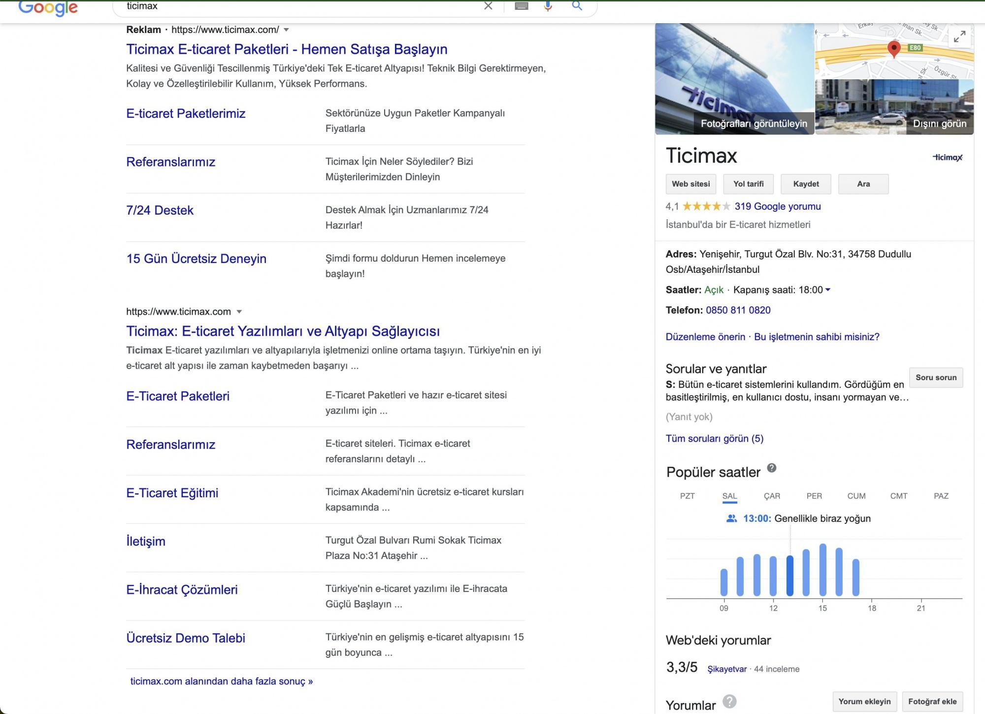 Google тест блоков с быстрыми ссылками в платной выдаче