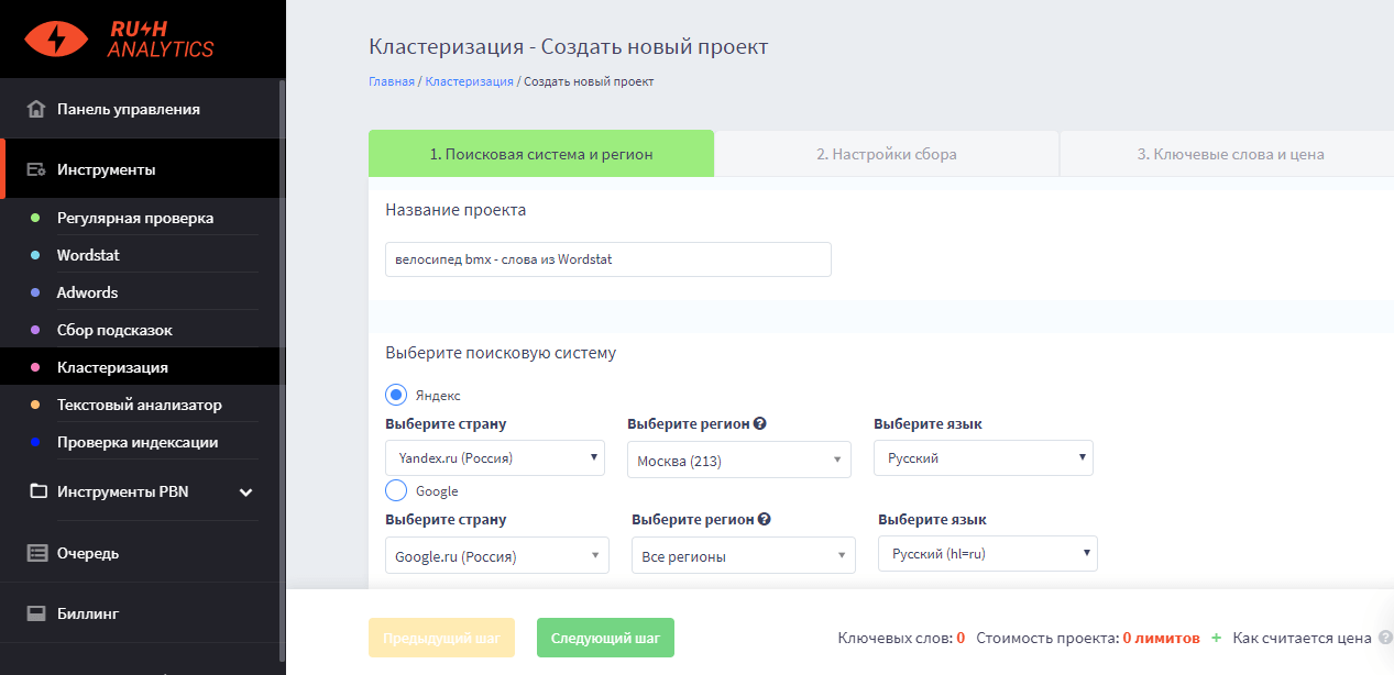 Rush Analytics Кластеризация