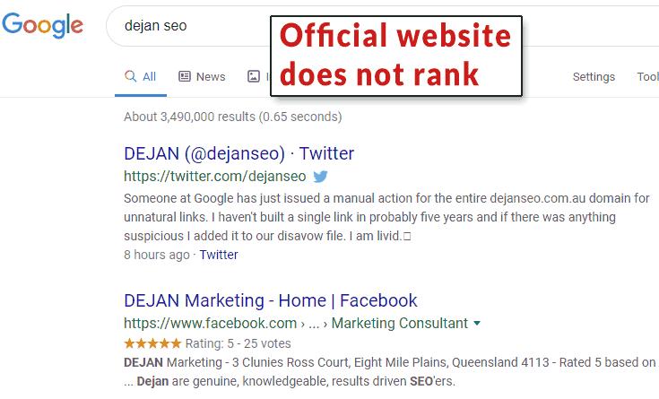 сайт перестал ранжироваться даже по названию