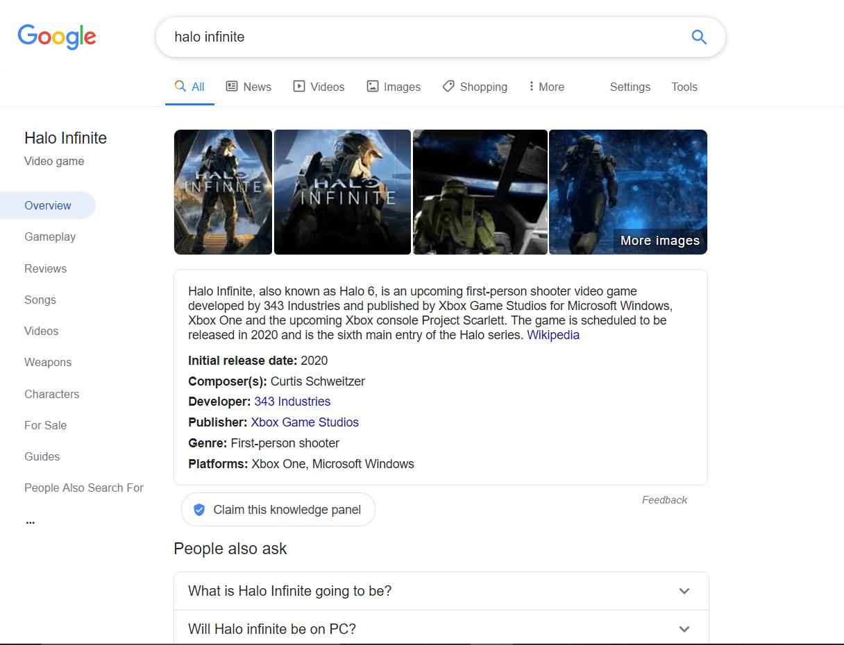 Google тестирует новый поисковый интерфейс для видеоигр