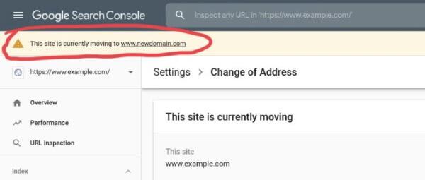 После того, как владелец сайта отправит запрос на изменение адреса, в Search Console появятся уведомления о переносе