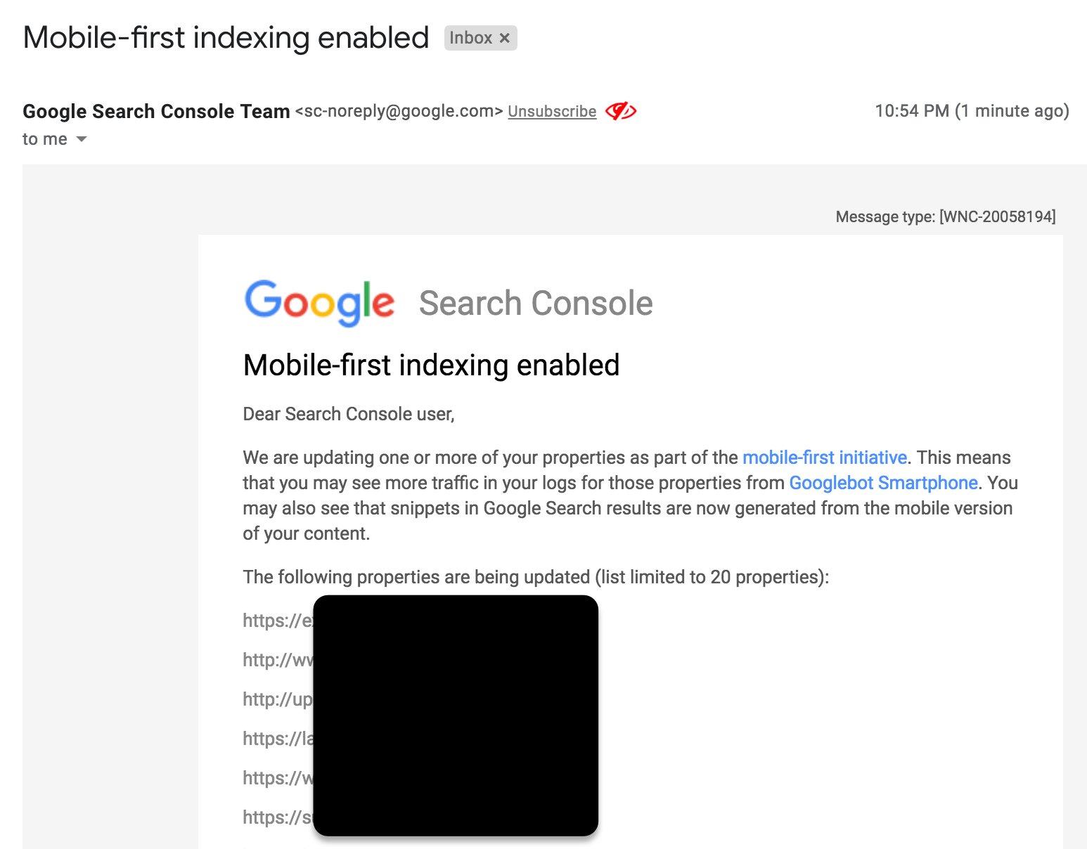 Google стал объединять оповещения о переходе на mobile-first