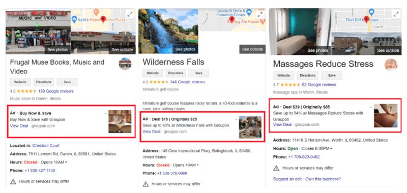 Google начал показывать объявления в профилях локальных бизнесов