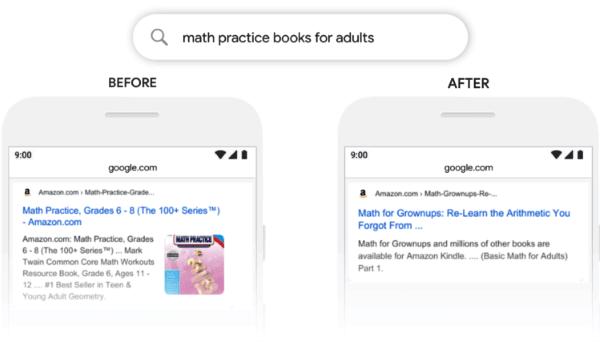 Google показал несколько примеров, как BERT может менять результаты поиска