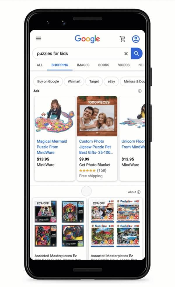 Ретейлеры получат возможность бесплатно размещаться в Google Shopping