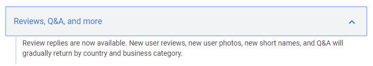Google вернул возможность публикации отзывов в сервисе Мой бизнес