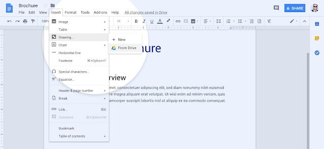 В Google Docs теперь можно встраивать Google Рисунки