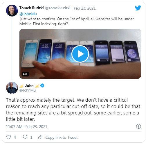 Google: точной даты перехода на mobile-first индексацию нет