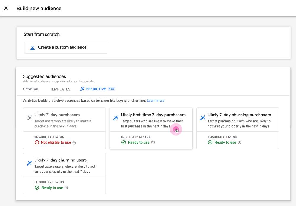 Google Analytics анонсировал две новые прогнозные метрики