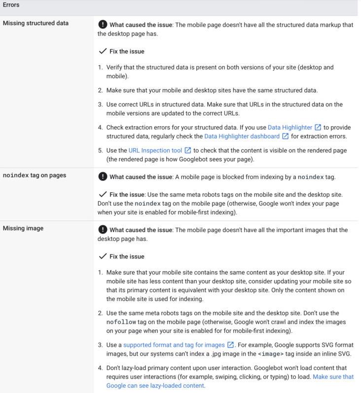 Google внес изменения в документ, посвященный mobile-first индексации