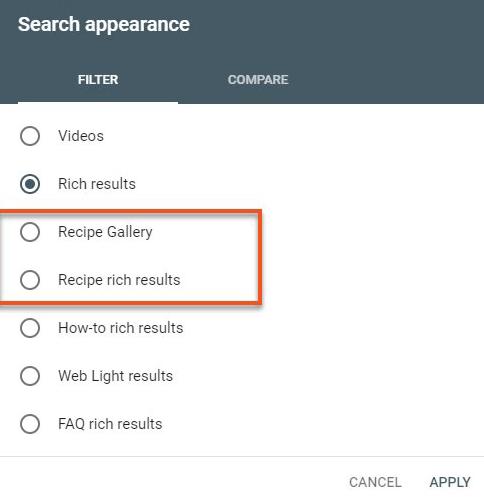 В Google Search Console появились новые фильтры в отчете об эффективности