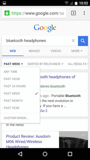 Google тестирует новый мобильный интерфейс выдачи