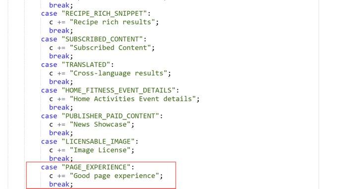 В отчете Google Search Console появился фильтр Page Experience