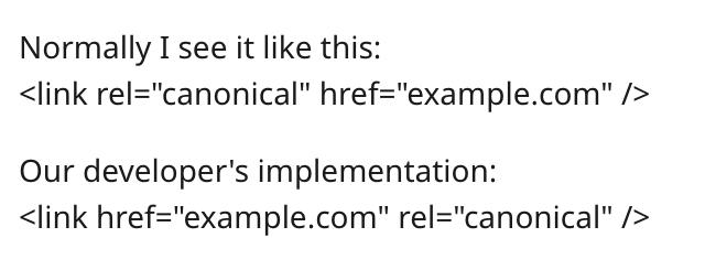 Google про значение расположения атрибутов rel
