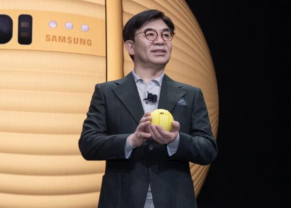 Робот Ballie выглядит как маленький шар и может помогать по хозяйству