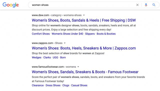 Google выделяет URL в выдаче жирным шрифтом
