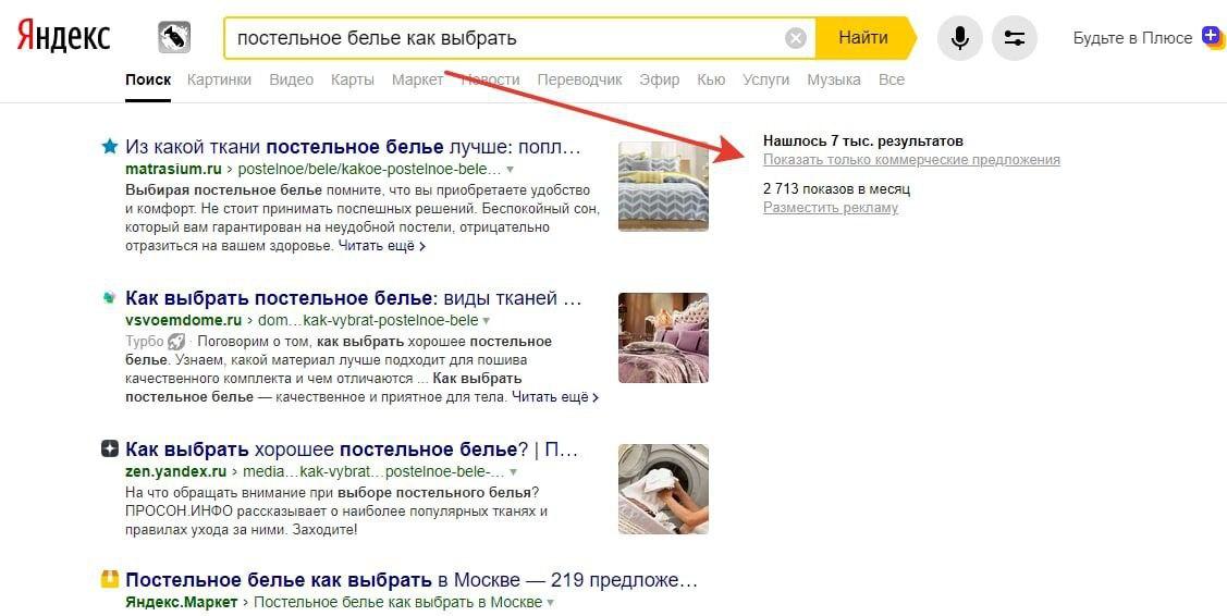 Скриншот выдачи Яндекса