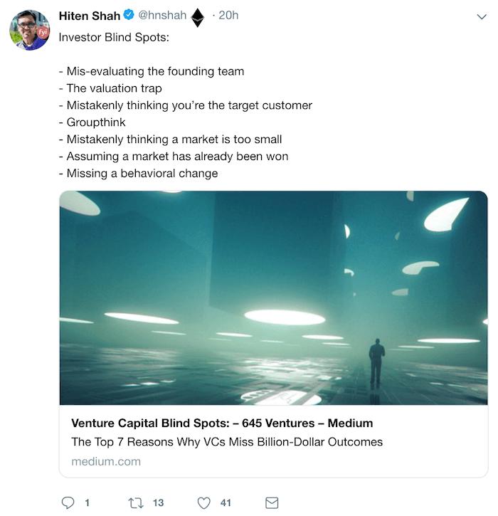 Хитен Шах в Twitter