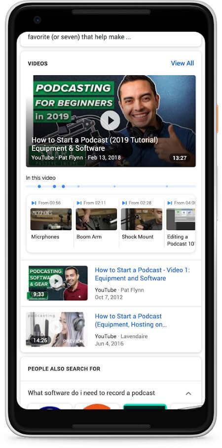 Google представил функцию для поиска ключевых моментов в видео