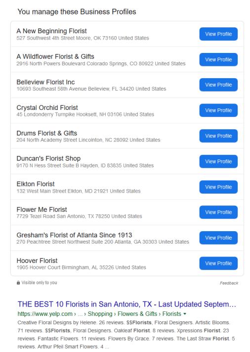 Google начал отображать в поиске подключенные филиалы My Business