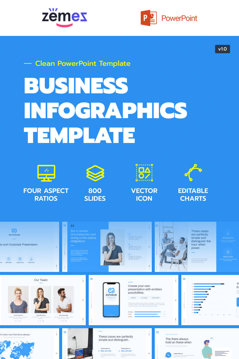 Business with flexible infographics