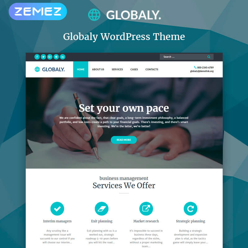 WordPress-шаблон Globaly – Business Multipurpose Modern Elementor