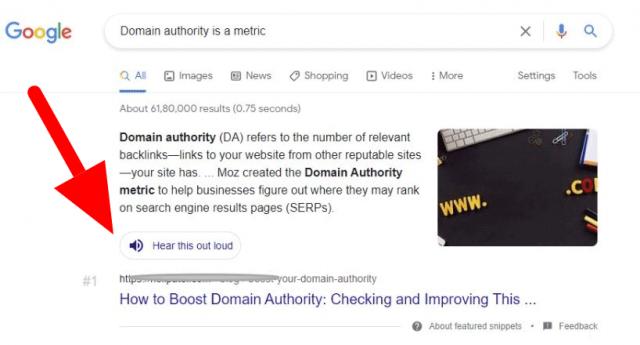 В Google появилась кнопка для озвучивания результатов поиска