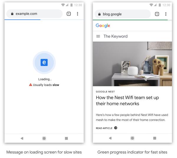 В Google Chrome появятся отметки для медленных и быстрых сайтов