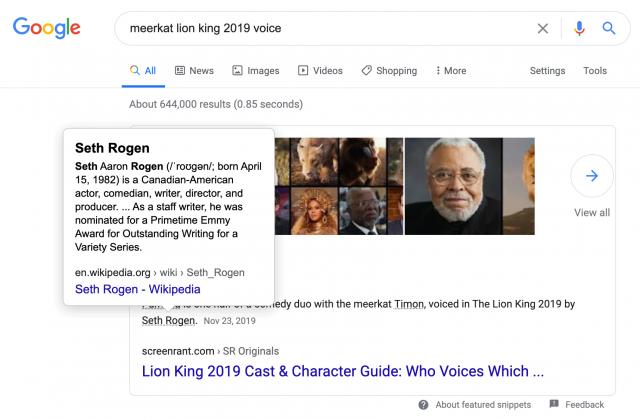 Google тестирует добавление ссылок на сторонние сайты в блоках с ответами