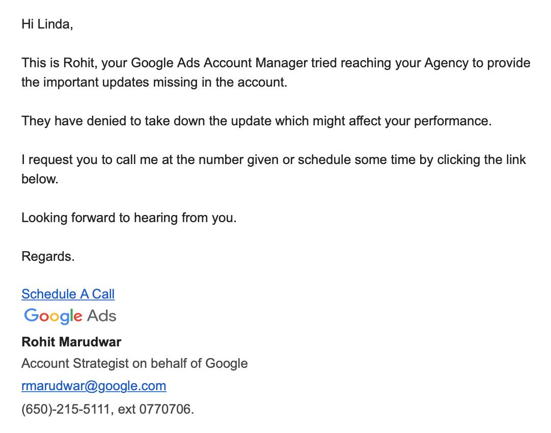 Google Ads начал «жаловаться» клиентам на их подрядчиков