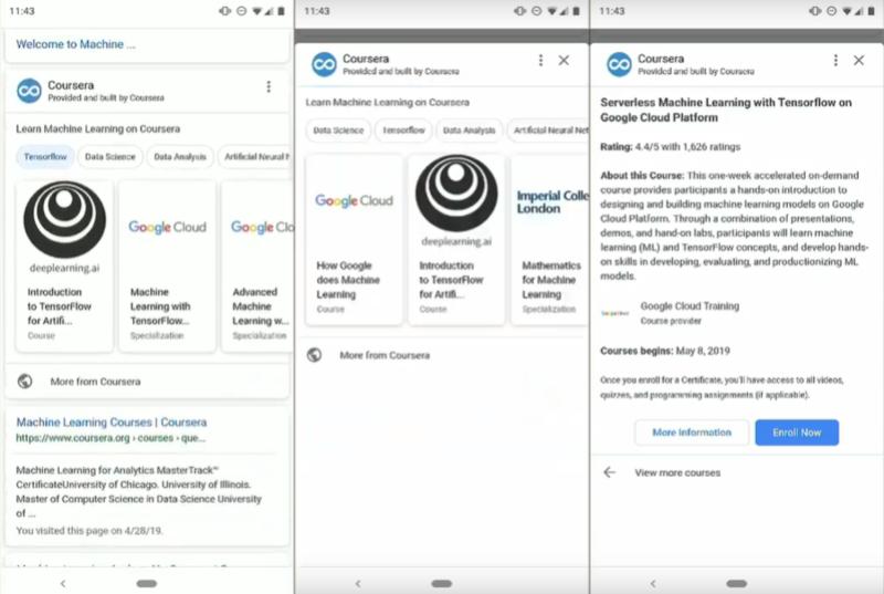 Google представил новые элементы поиска и Assistant – миниприложения
