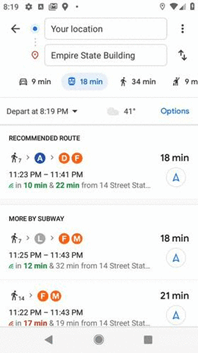 В марте этого года в Google Картах появятся дополнительные функции для удобного планирования поездок в общественном транспорте