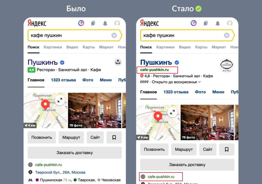 Карточки организаций в Яндексе
