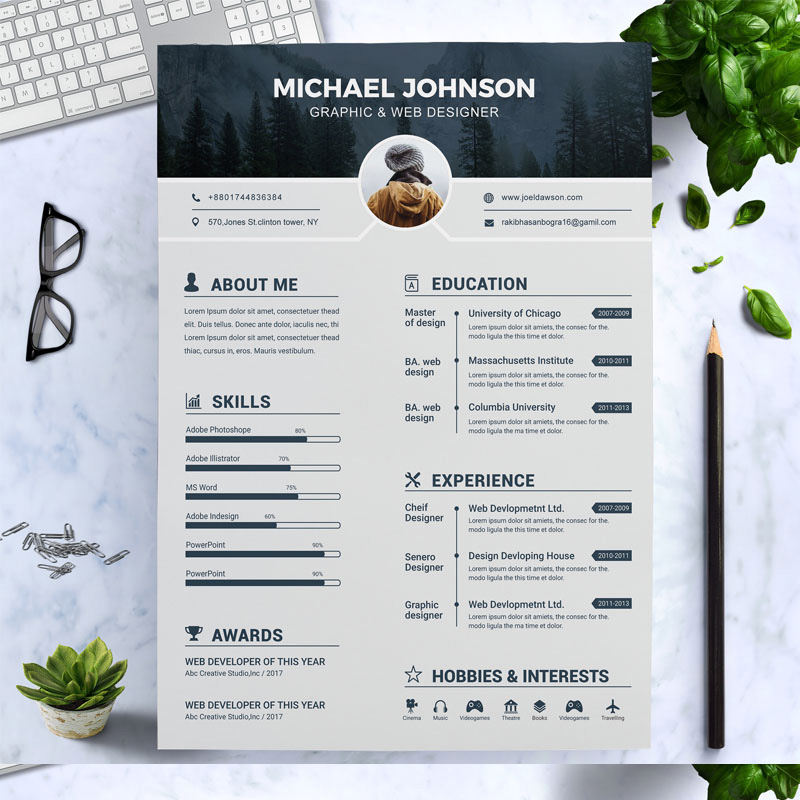 Резюме Johnson Graphic Designer