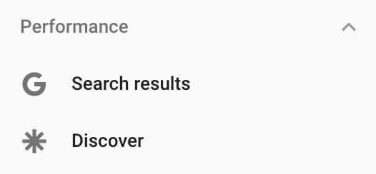 Search Console добавил данные об эффективности сайта в ленте Discover