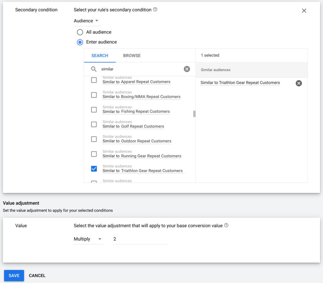 Google Ads позволит задать ценность конверсии в интеллектуальном назначении ставок