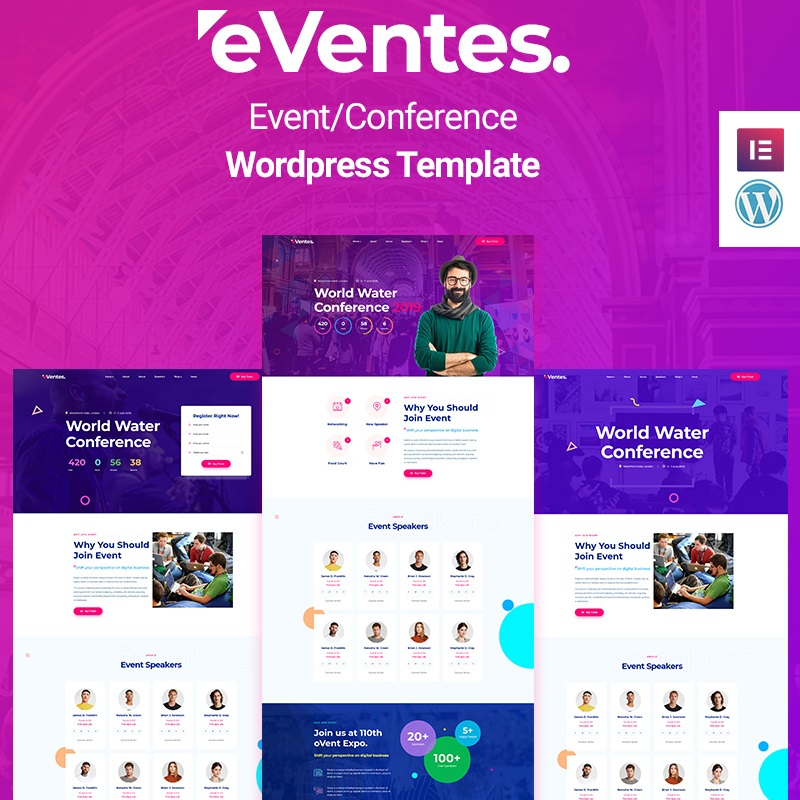 WordPress шаблон Eventes - Conference and Event