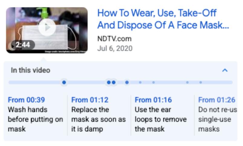 Google представил новый способ включить ключевые моменты видео в Поиске